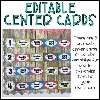 Guided Reading Rotations Chart - Editable!