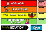 Guided Reading Rotations Powerpoint with Timers! (Editable)