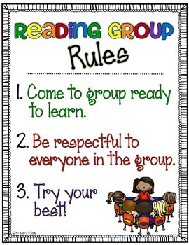 Guided Reading Rules