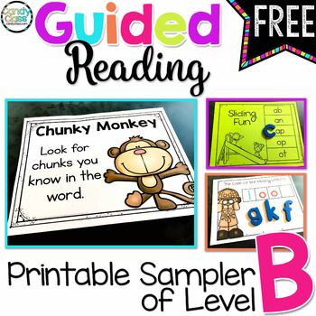 Guided Reading Activities Sampler of Level B Freebie