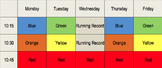 Guided Reading Schedule Chart