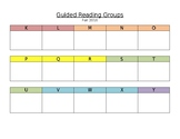 Guided Reading Schedule - EDITABLE