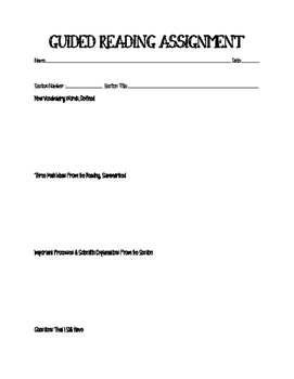 Guided Reading - Science