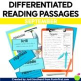 1st Grade Reading Passages for September- Google Slides