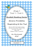 Guided Reading Series - Responding to the Text - Packet 1