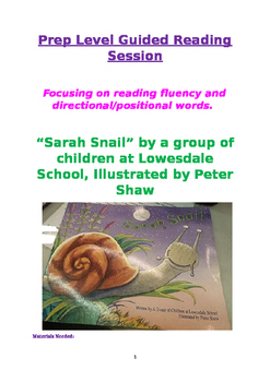 Guided Reading Session - Directional Words & Fluency