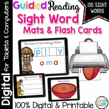 Digital Guided Reading Sight Word Distance Learning Google Classroom Activities