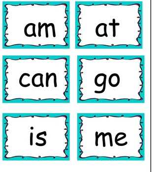 Guided Reading Sight Words Levels A-C
