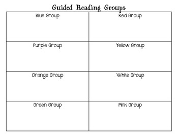 Guided Reading Group Signs by color sports theme  - football