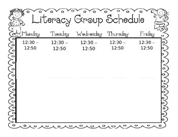 Guided Reading Simple Schedule