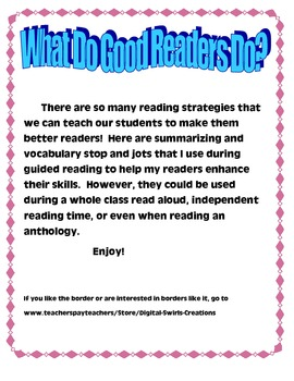 Guided Reading Skill Practice