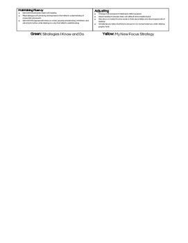 Guided Reading student strategy sheets levels R,S,T