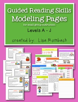 Guided Reading Skills Modeling Pages Levels A-J
