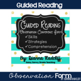 Guided Reading: Observation Conference Form