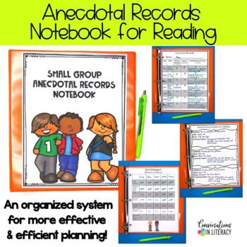 Guided Reading Binder (Notes and Anecdotal Records Notebook)