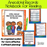 Guided Reading Binder Notes and Anecdotal Records Notebook