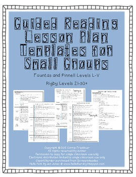 Fountas And Pinnell Lesson Plan Template Teaching Resources - Guided reading lesson plan template fountas and pinnell