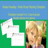 Small Group Reading Template Lesson Planner Multiple groups Guided Reading