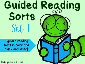 Guided Reading Sorts - Set 1