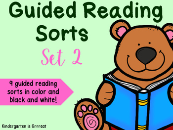 Guided Reading Sorts - Set 2