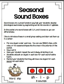 Guided Reading Fall Sound Boxes