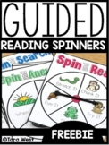 Guided Reading Spinners | FREEBIE DOWNLOAD |