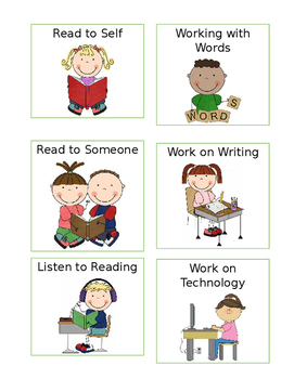Guided Reading Station Rotation Cards