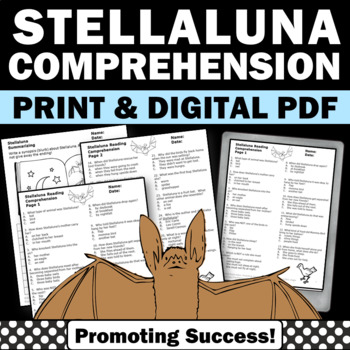 Stellaluna Reading Comprehension Questions, Halloween Book Unit, Stellaluna Quiz