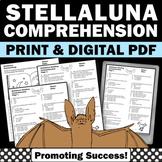Reading Comprehension Worksheets for Stellaluna Activities