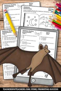 Reading Comprehension Worksheets for Stellaluna Activities