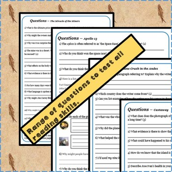 Reading Comprehension Package - Stories of Survival