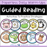 Guided Reading Strategies Daily Practice Warm Up Lessons