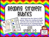 Guided Reading Strategies Rubrics CCSS Grades 1-5