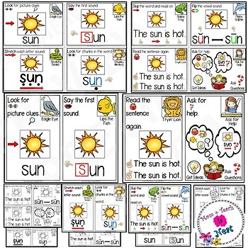 Guided Reading Strategies Visual Prompt Cards