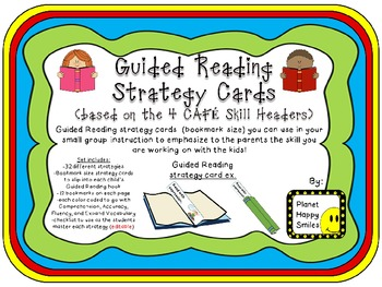Guided Reading/Strategy Cards (bookmarks)
