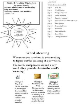 Guided Reading Strategy Posters Grades 3 - 5