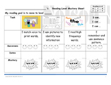 Guided Reading Student Mastery Sheet- Level A to B - Readi