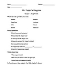 Guided Reading Study Guide for Mr. Popper's Penguins Chapters 1-5