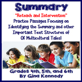 Summary Reading Intervention, Passages, Activities, and More