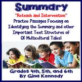 Summary Reading Passages, Extra Practice, Reteach, Test-Prep