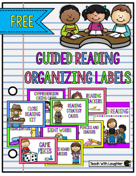Guided Reading Supply Labels FREE