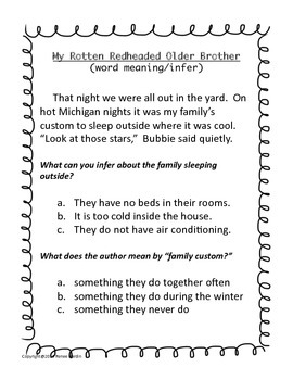 Guided Reading TAGS: Test Taking Strategies