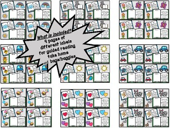Guided Reading Take Home Bag Labels