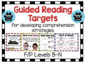 Guided Reading Targets F/P Levels B-N