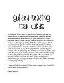 Guided Reading Task Cards 50+