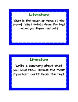 Guided Reading Task Cards:  Grade 5