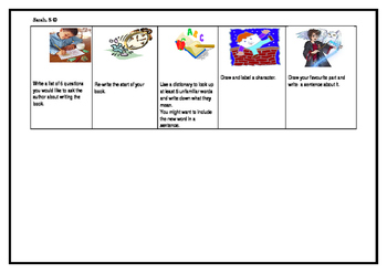 Guided Reading Task Cards Stage One and Two