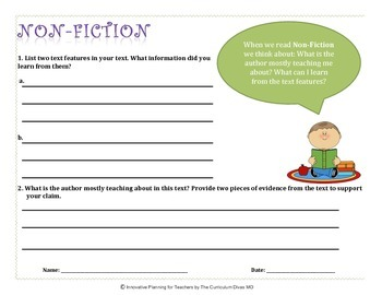 """Guided Reading Task Cards: """"Thinking Jobs"""""""