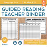 Guided Reading Lesson Plan Sheets and Data Tracking Forms