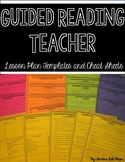 Guided Reading Teacher Lesson Plan Templates and Cheat Sheets